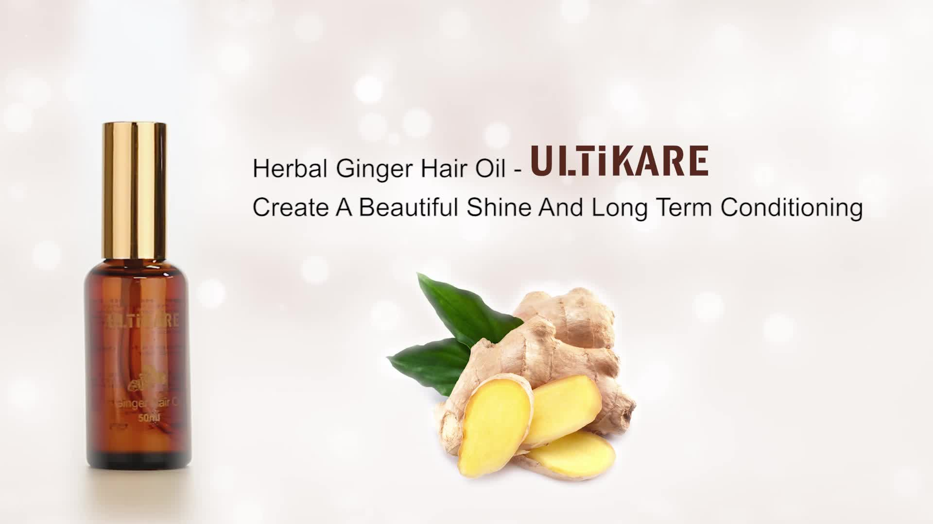 Private label oem India 100% natural hair growth oil ginger herbal hair care products