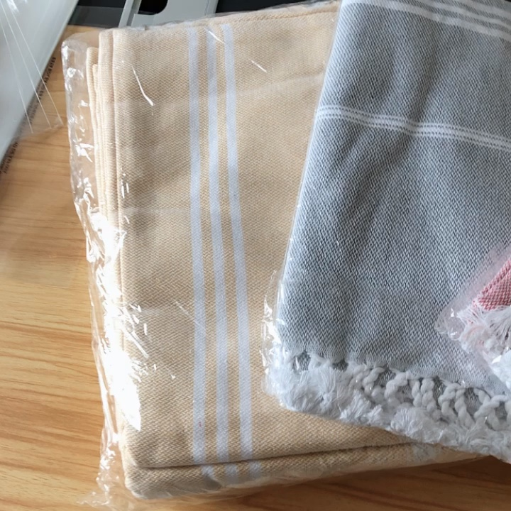 Wholesale  Best Price  Bath or Beach Use  Logo Custom  100% Cotton  Natural Luxury Turkish  Hammam Peshtemal Beach Towel