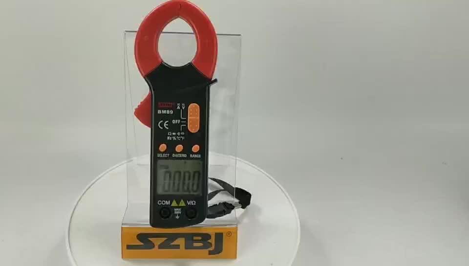 BM89 Taşınabilir dijital AC DC kelepçe metre sıcaklık ve frekans testi