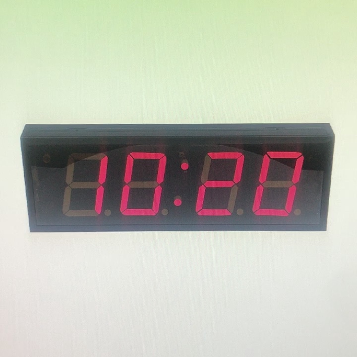 Hot sell 4 Inch 4 Digit LED Digital Wall Clock  Temperature Date  Count Down Display