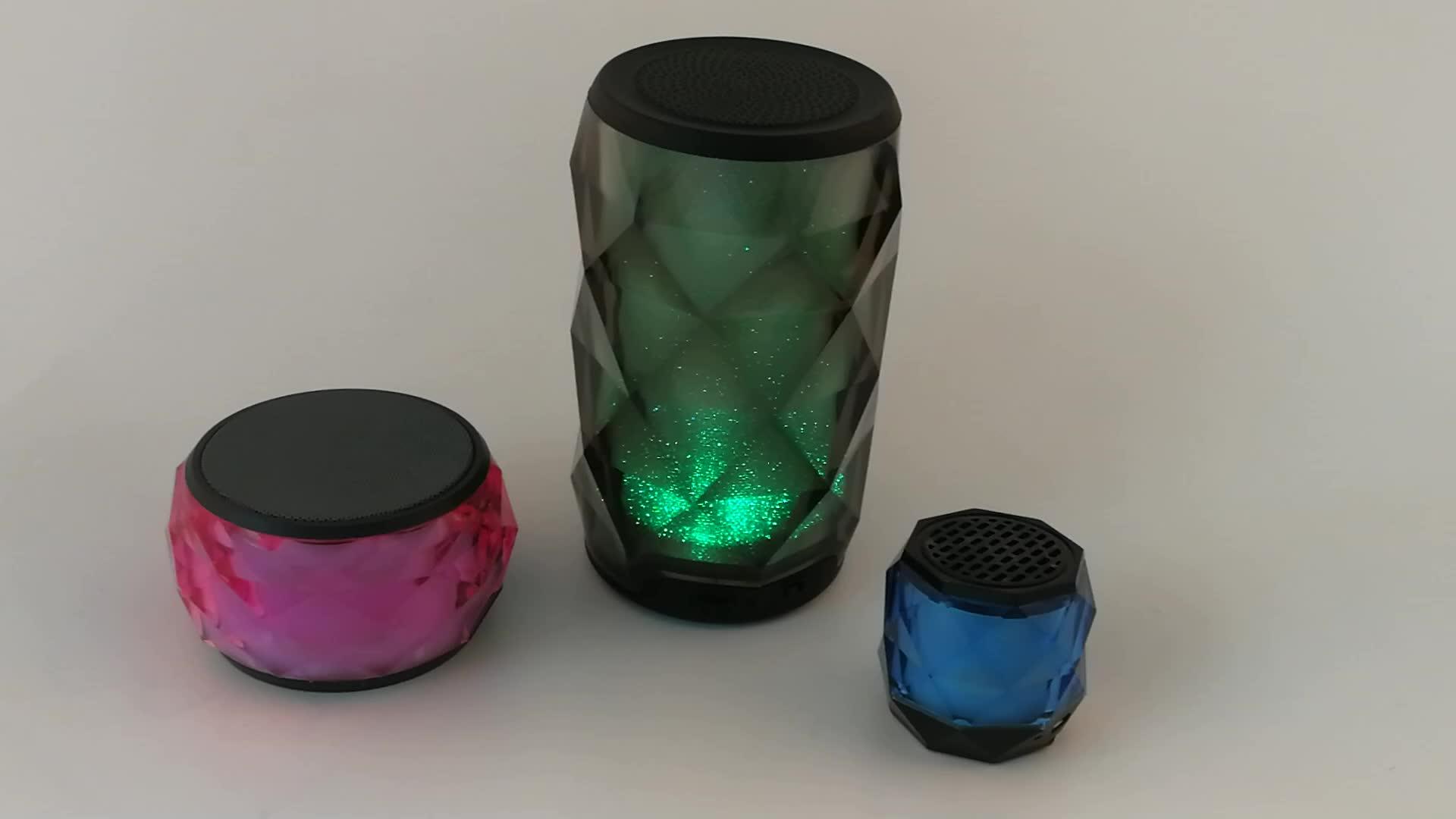 Цветной СВЕТОДИОДНЫЙ беспроводной bluetooth-динамик с сенсорным управлением