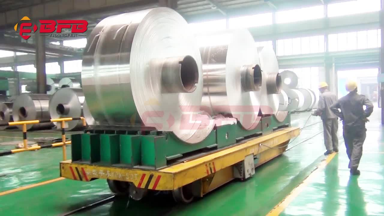 steel box beam structure coil car for uncoiler or coiler function
