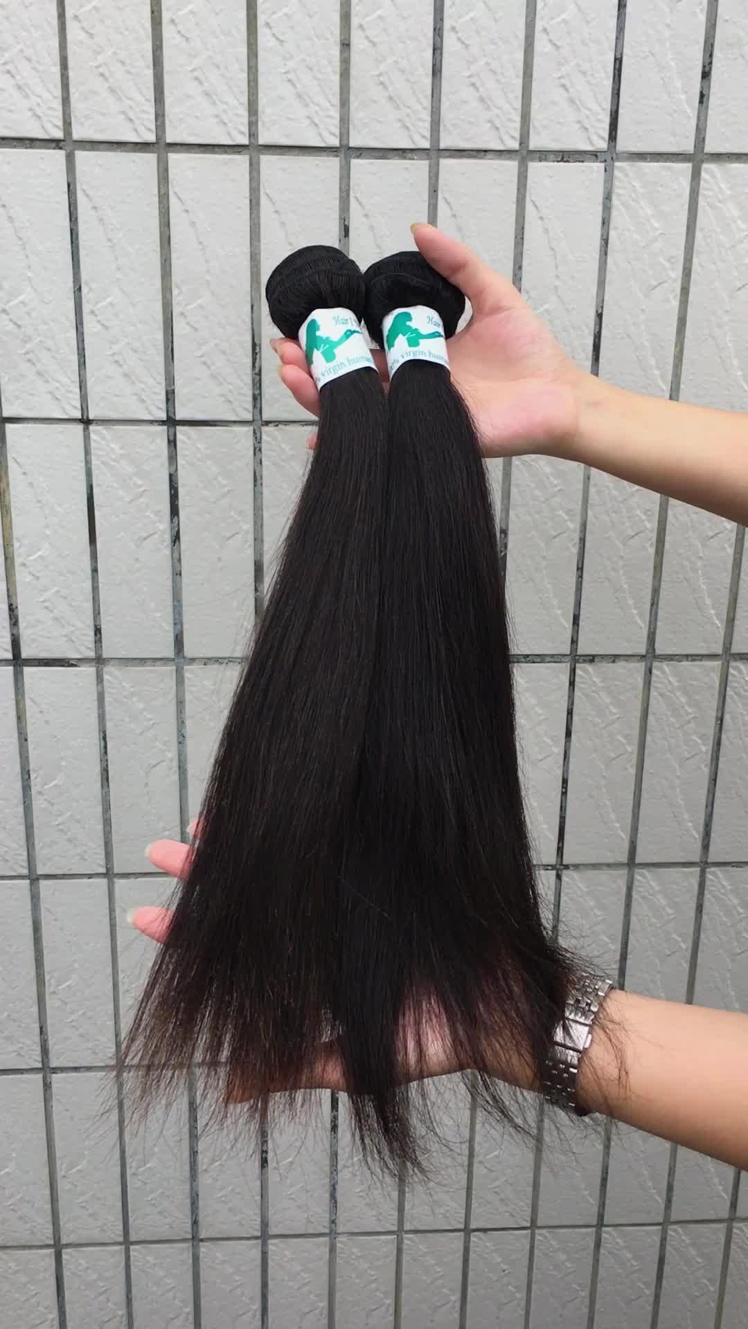 Overnachting verzending hoogwaardige virgin cuticula uitgelijnd rechte ruwe haar