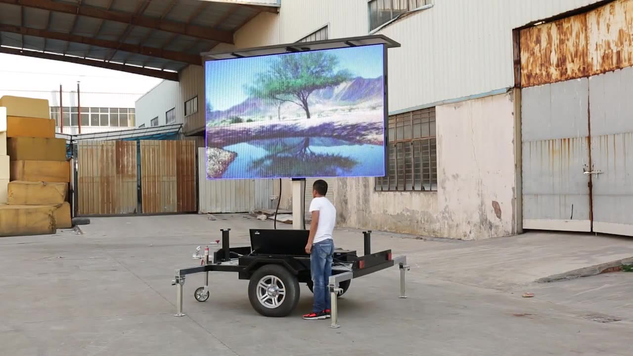 Trailer Mobile pitch 10mm 16x16 pixels LED Advertising Screen