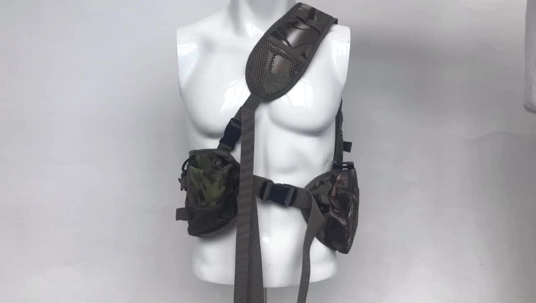 Adjustable Outdoor Hunting Camouflage Tactical Sling Shoulder Backpack Bag for Hiking, Camping and Trekking