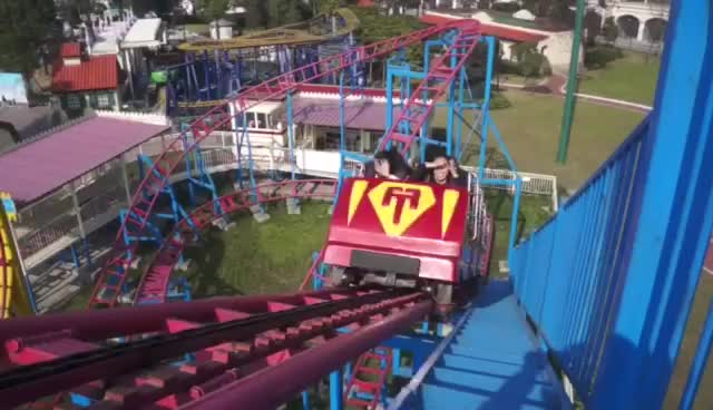 amusement rides big adult thrill rides overlapping roller coasters for sale