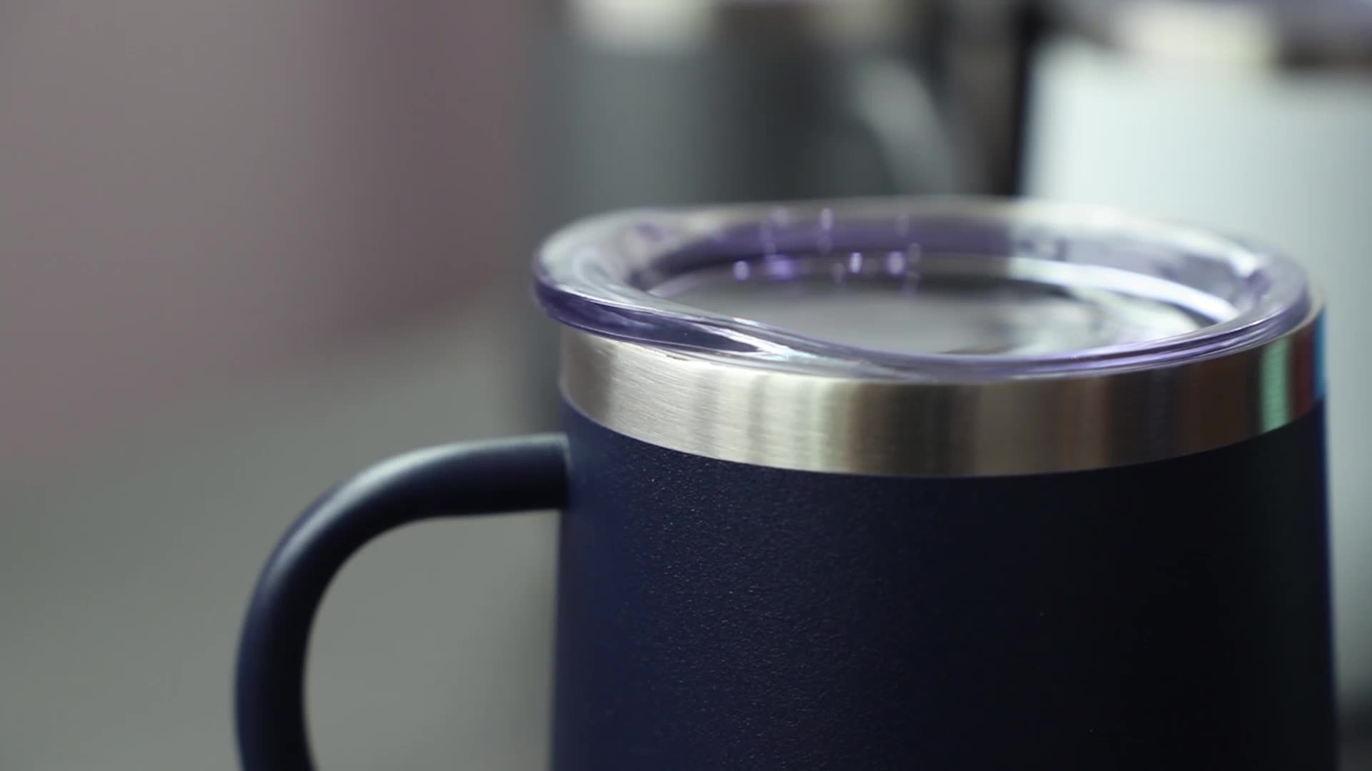 Vacuum-insulate eco friendly stainless steel christmas travel mug
