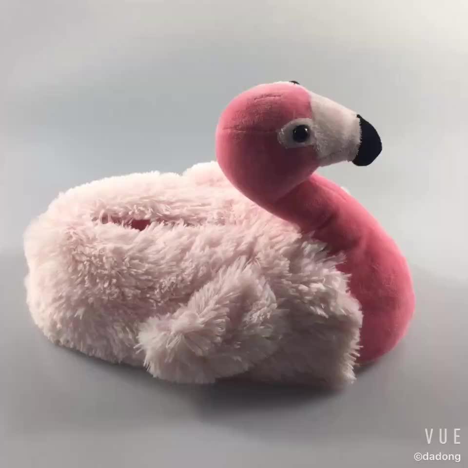 ฟรีตัวอย่างร้อนยินดี flamingo รองเท้าแตะตุ๊กตา anial รองเท้าแตะสำหรับเด็กผู้ใหญ่