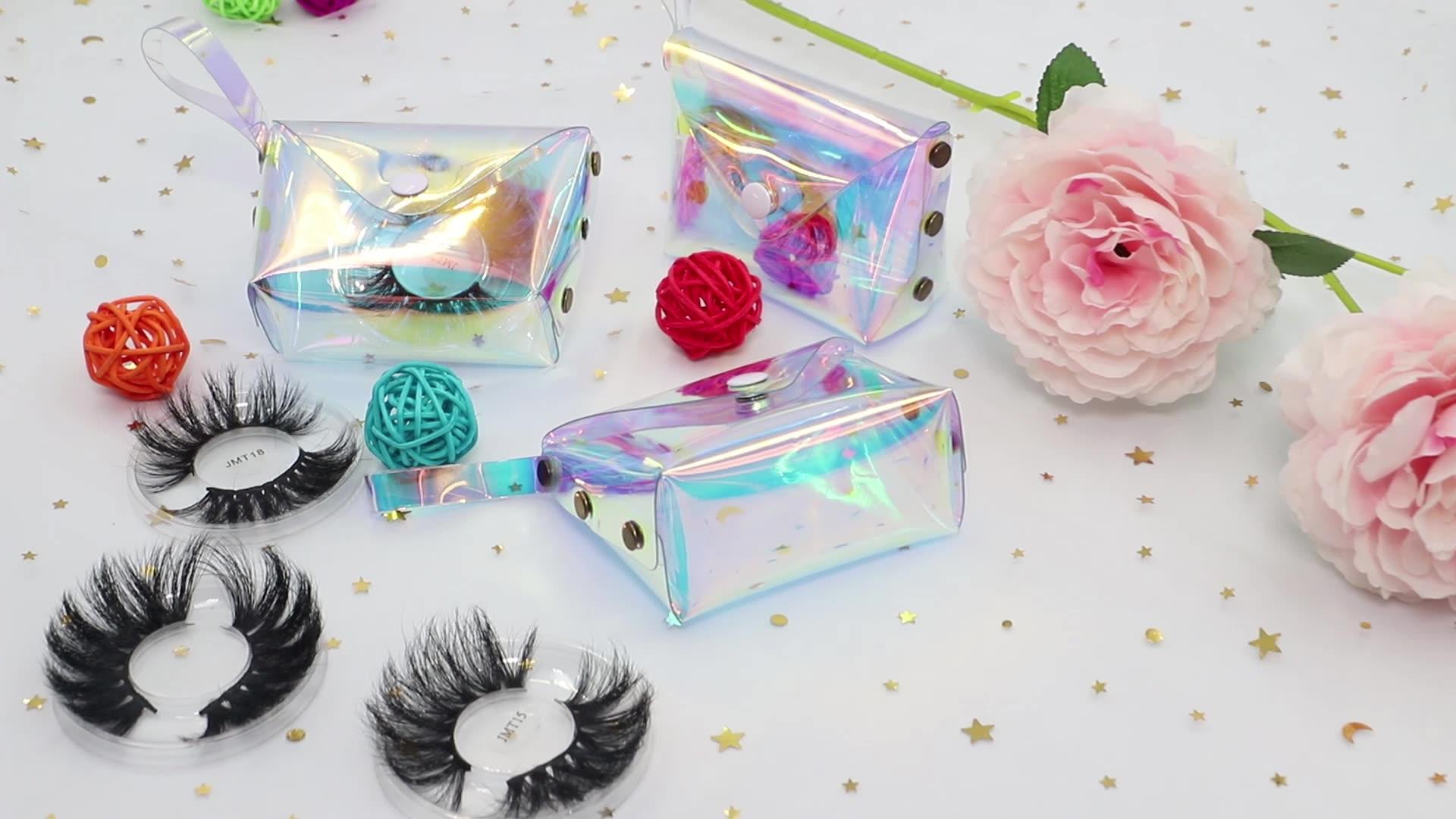 Wholesale Mink Eyelashes Vendor 3D Mink Lashes  Private Label Dramatic 5D 25mm Mink Eyelashes With Custom Eyelash Packaging Box