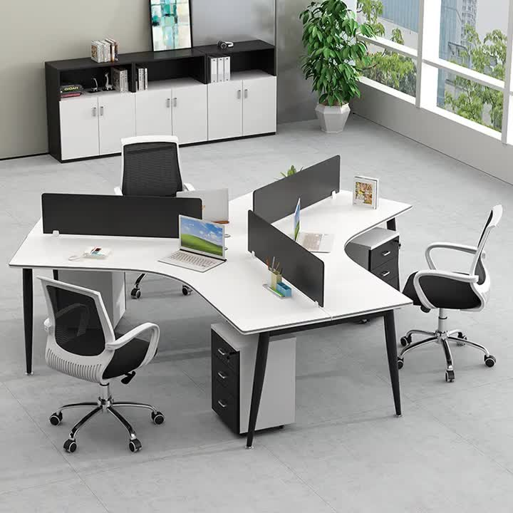 Call Center Round Office Workstation 6