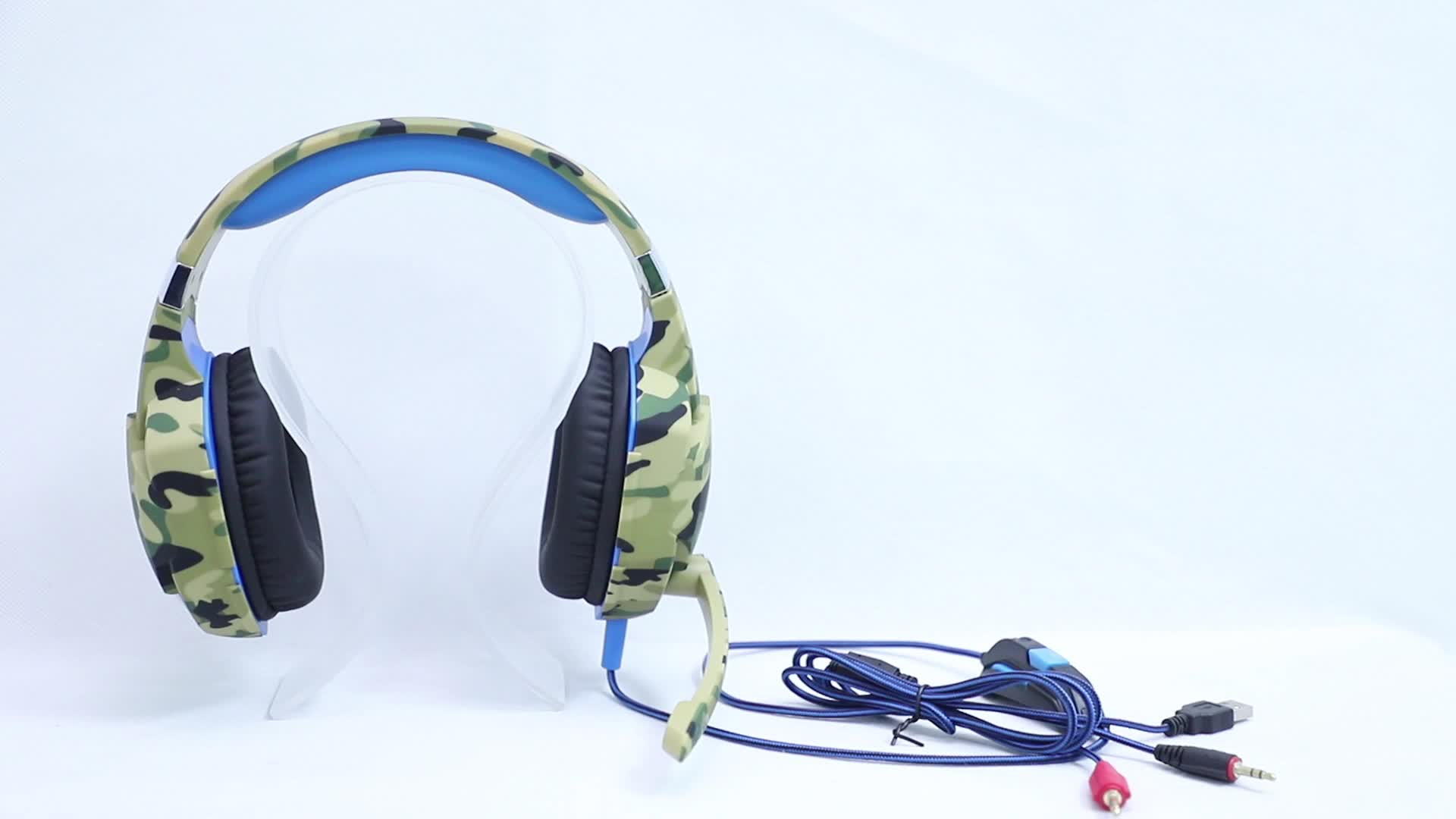 Professional headset stereo custom logo gaming headset wired gaming head phones