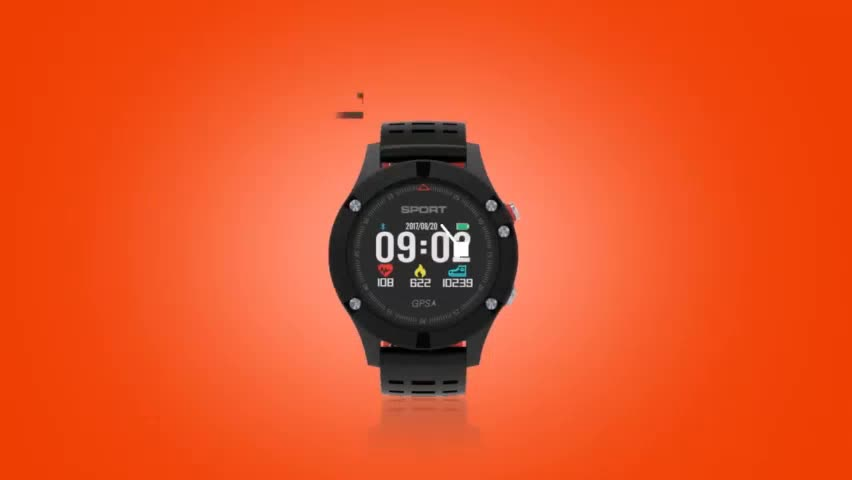 2019 Hot sale Waterproof GPS Smart Watch F5 Altimeter Barometer Thermometer BT 4.2 Heart Rate Monitor Sport Watches