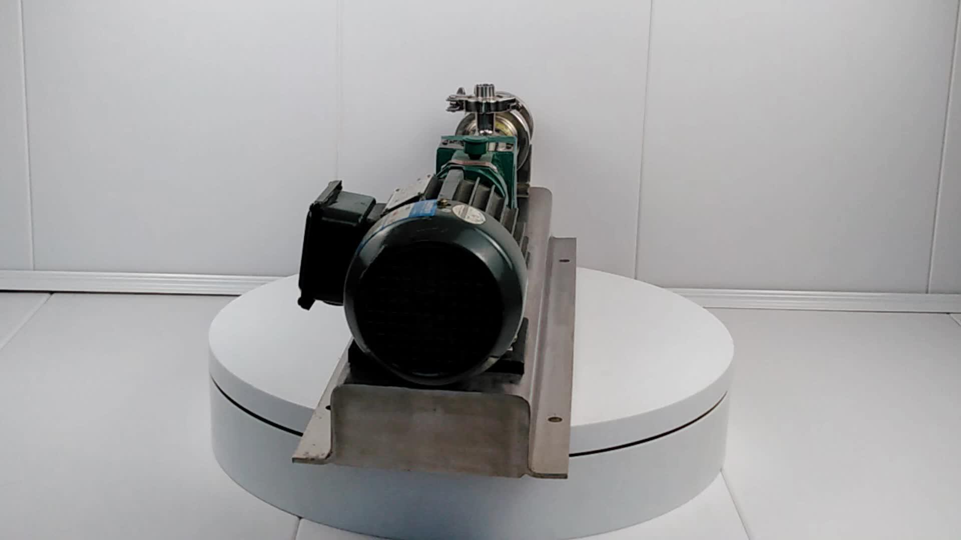 Stainless steel open hopper screw pump progressive cavity pump for tomato paste