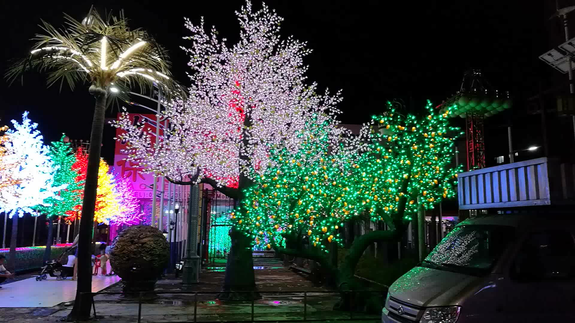 outdoor with low voltage transformer large christmas cherry light 8m giant christmas tree for the simulation