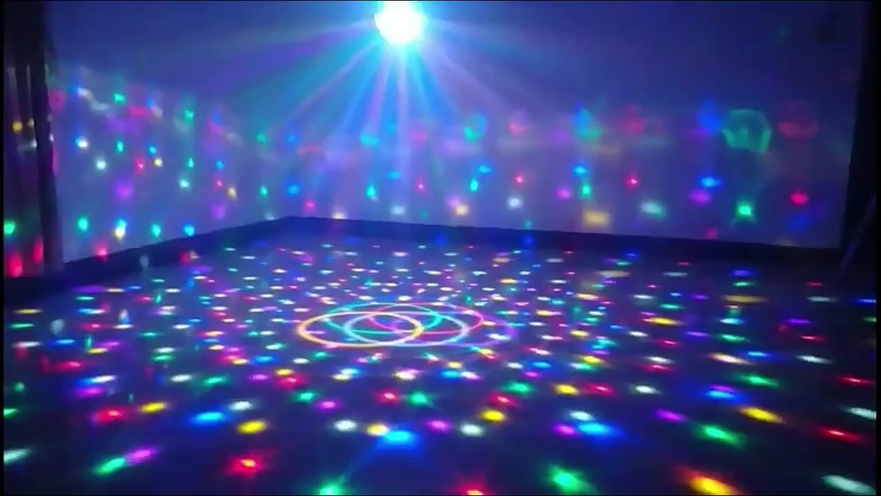 APP Control Bluetooth Effect Lighting Club Stage RGB Color Change Crystal Magic Rotating Ball Speaker Light Magic Ball lighting