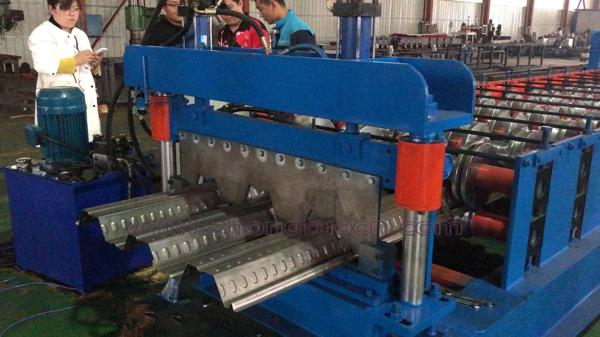 Gegalvaniseerd staal metalen dek floor rolvormmachine