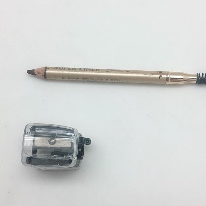 En plastique de maquillage crayon à sourcils cosmétique personnalisé taille-crayon