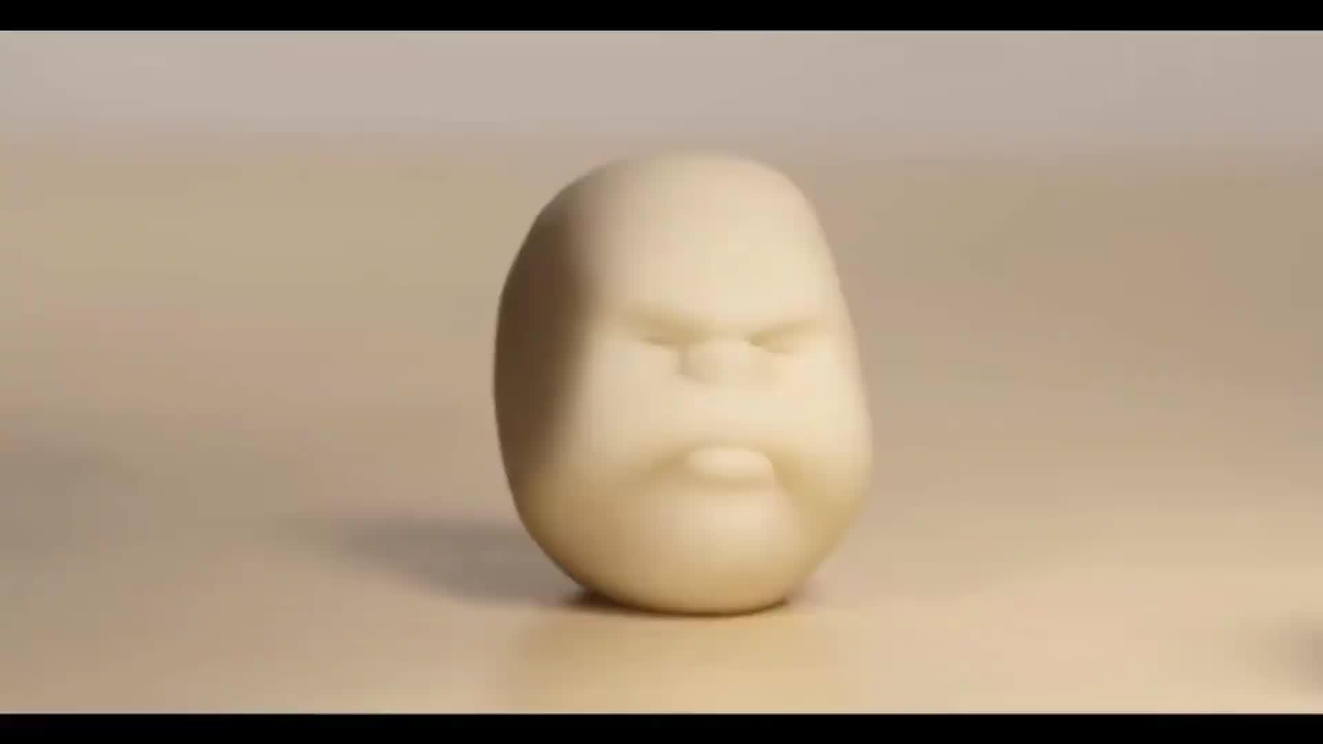 Drôle Personnalisé Caomaru Balle Anti-Stress caomaru visages squelette balle anti-stress marron balle anti-stress