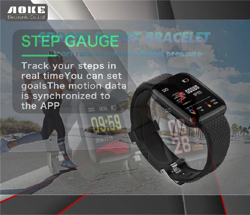 New Amazon best selling 116plus smartwatch promotion 2019 smart bracelet 116plus sport fitness watch with pedometer monitor