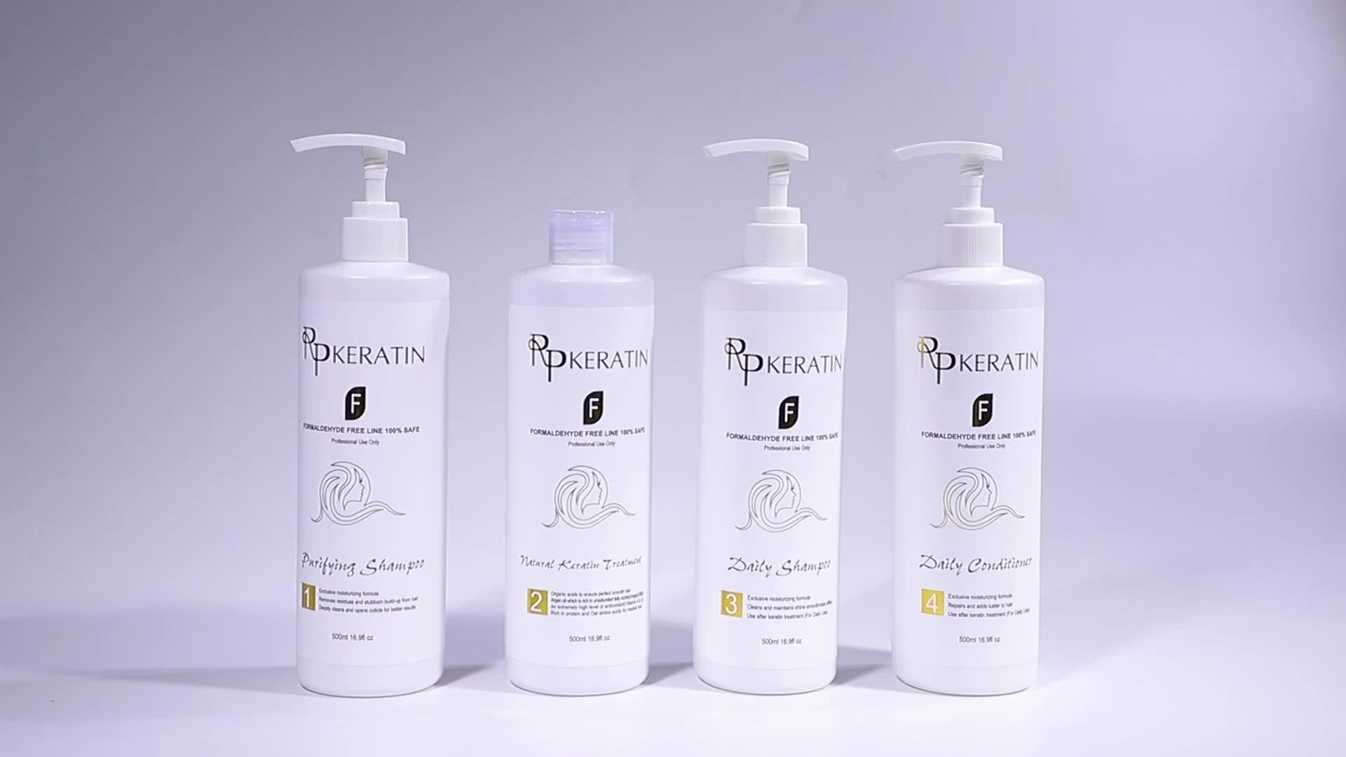 RPKERATIN Formaldehyd Freies Haar Richt Creme Behandlung Kit Glättung Keratin Haar Behandlung