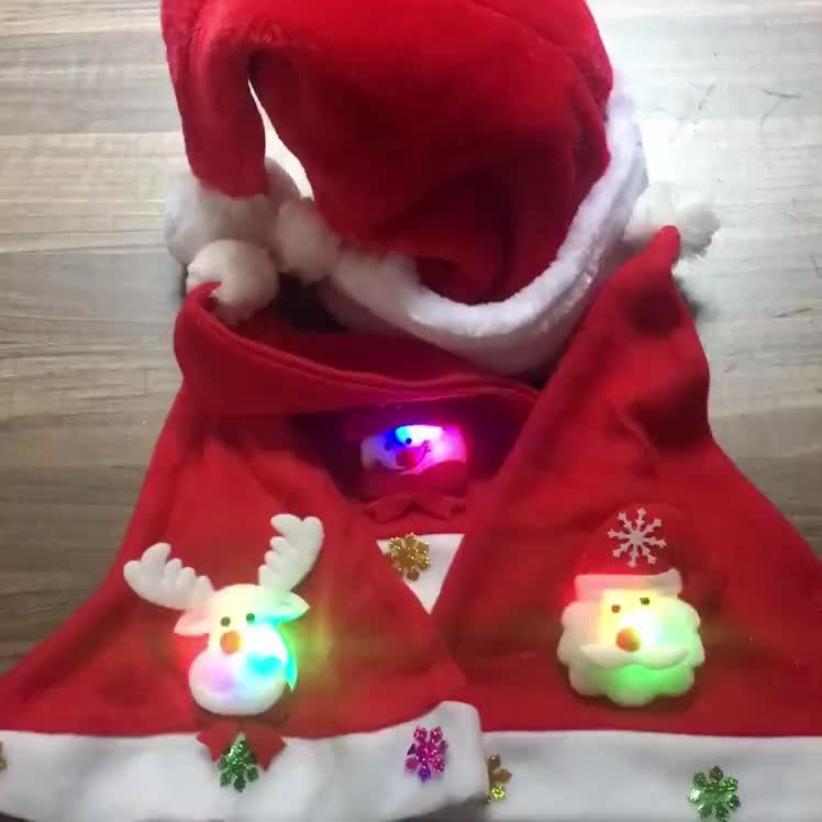 2020 Della Decorazione di Natale Forniture Gorro Navidad Morbido Pupazzo di Neve Led Feltro Custom Light Up di Natale Cappelli di Babbo Natale per Adulti