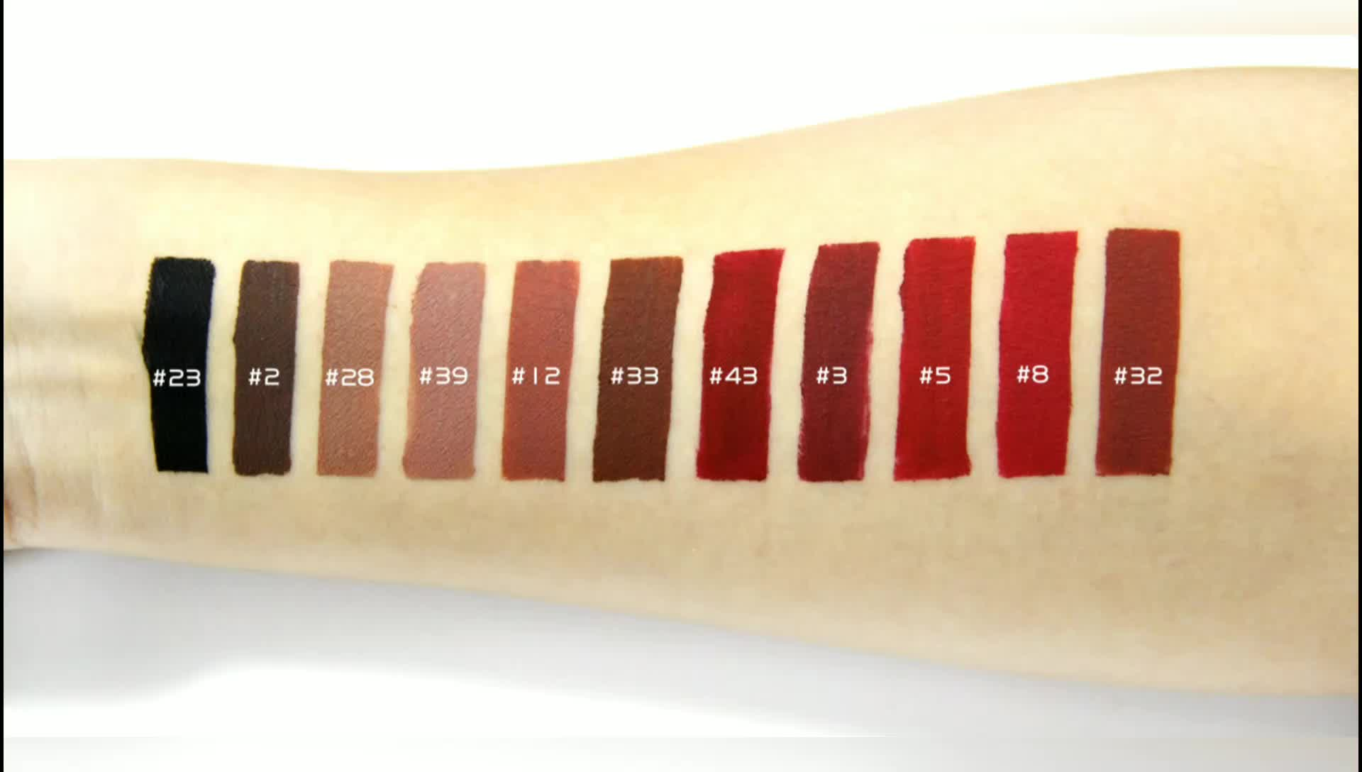 wholesale plain no label accept private label matte waterproof liquid lipstick