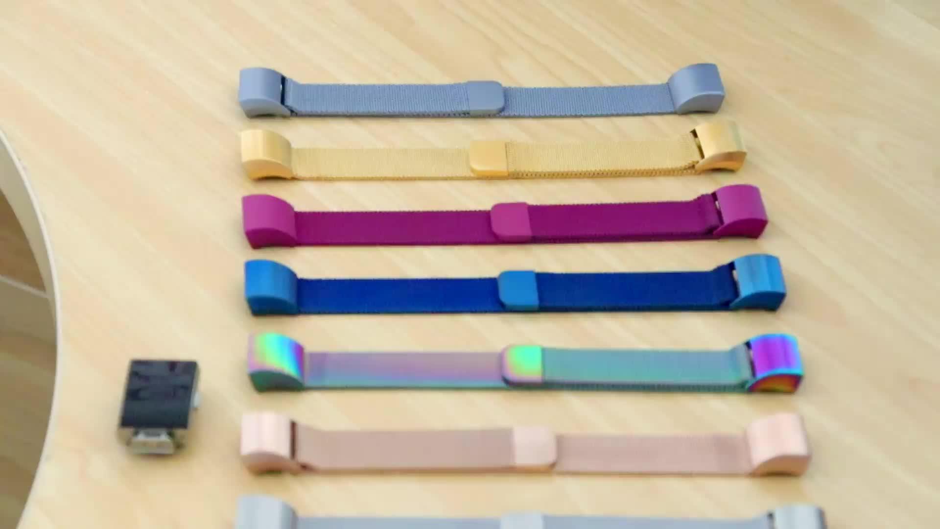 Dây Đeo Dạng Vòng Lưới Tương Thích Fitbit Charge 2 Charge 3 Khóa Từ Bằng Thép Không Gỉ Dây Đeo Cổ Tay Kim Loại Cho Nam Nữ L/S