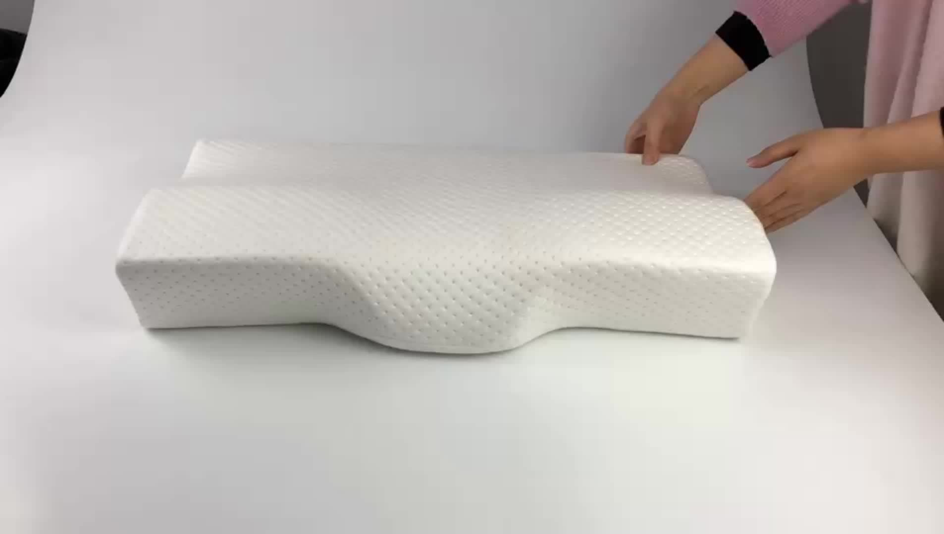 Memory Foam Pillow - Orthopedic Contour Pillow for Neck Pain, Side Sleepers And Back Sleepers