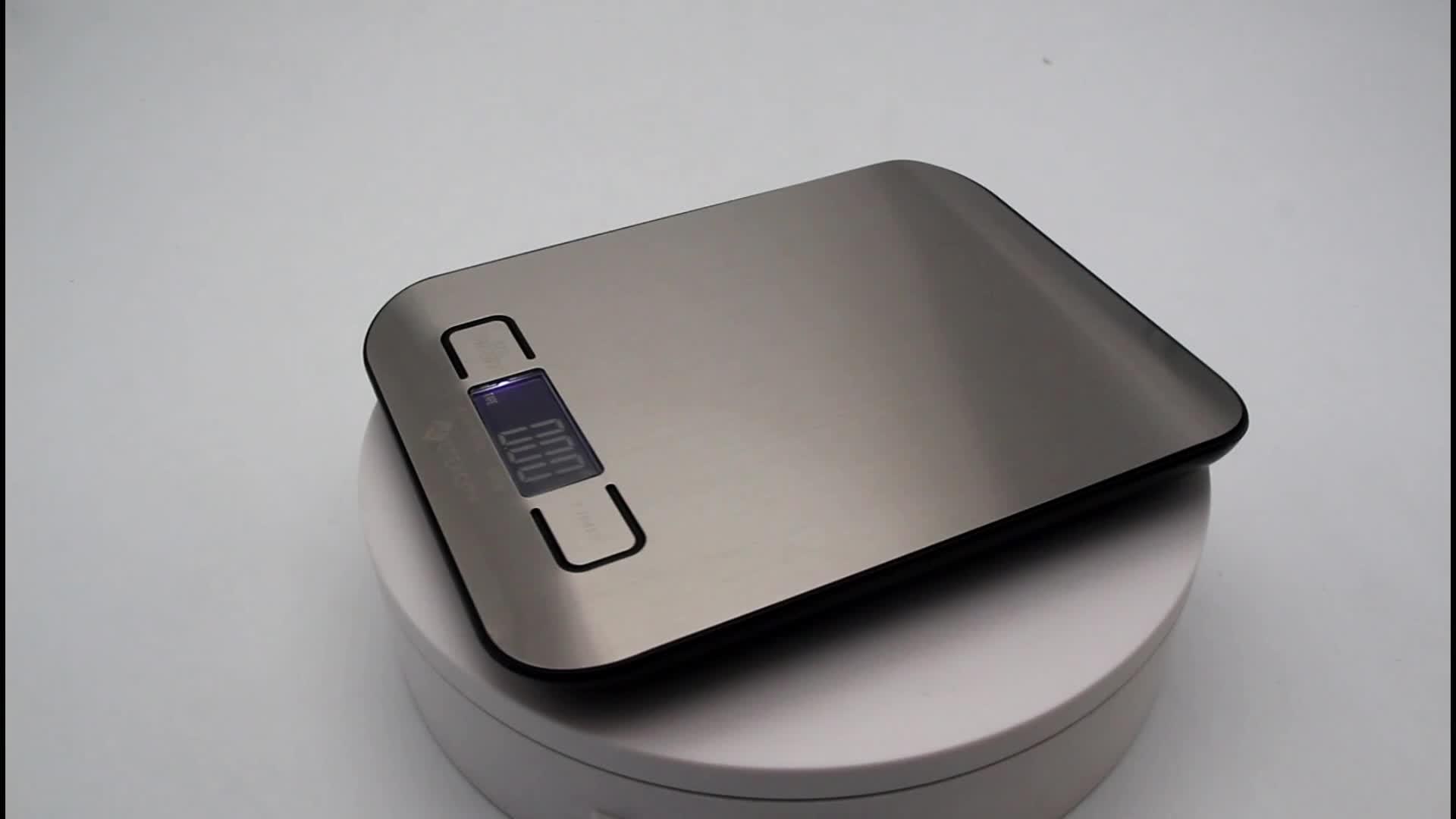 Pinxin สแตนเลสสตีล 5 กิโลกรัมเครื่องชั่งน้ำหนัก Etekcity อาหารดิจิตอลโภชนาการ scale