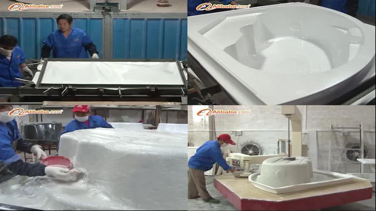 Rotonda getto d'acqua vasca da bagno/rotondo freestanding vasca da bagno