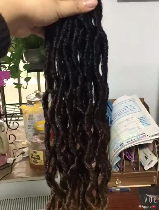 Africa Twist Faux Locs Ombre Synthetic Hair Braiding locs Synthetic Dreadlock Hair Braids