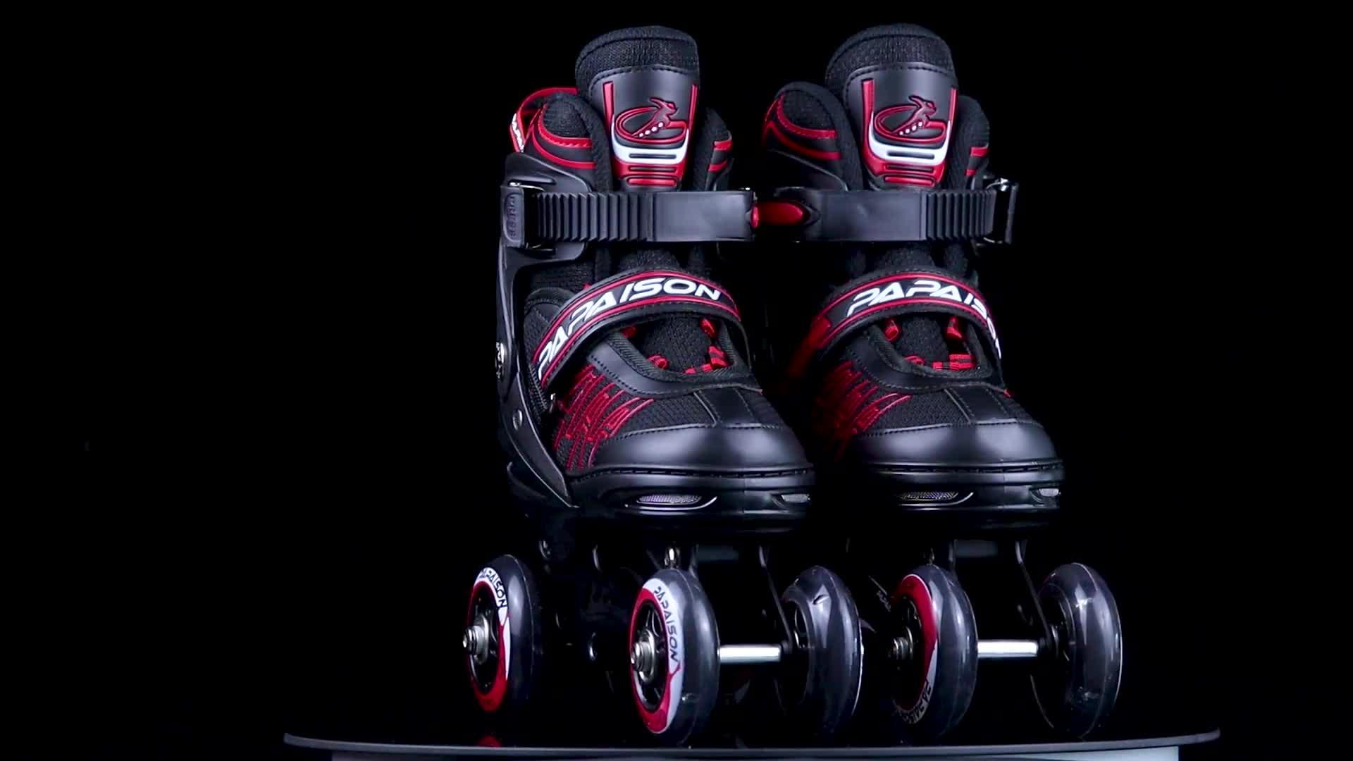 PAPAISON più popolari 4 ruote Inline regolabile pattini per i bambini scarpe da skate roller