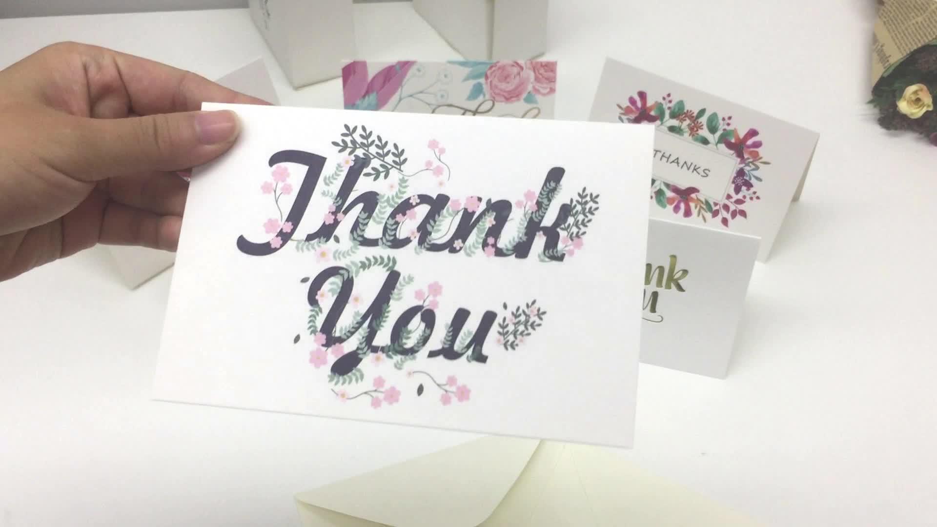 100PCS 48PCS 36PCS Popular Happy Birthday Greeting Card Thank You Greeting Card
