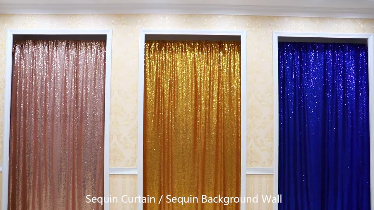 Мульти-функциональный сверкающий волшебный цвет блесток материал Реверсивный 3 мм блесток ткань ненесущая стена