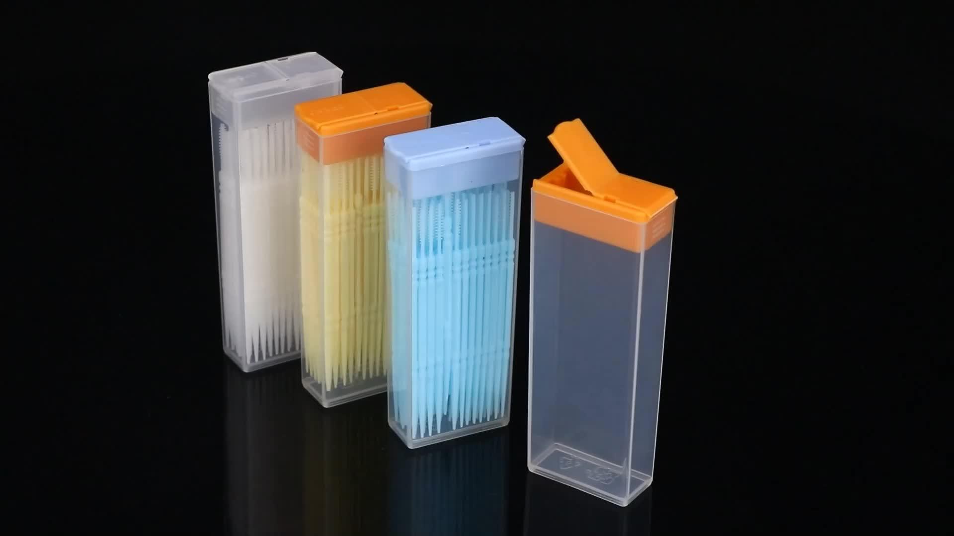 Sunshing Jelas Tusuk Gigi Kotak Kemasan Plastik Grosir Tusuk Gigi Kasus Benang Gigi Mengunyah Permen Karet Kotak
