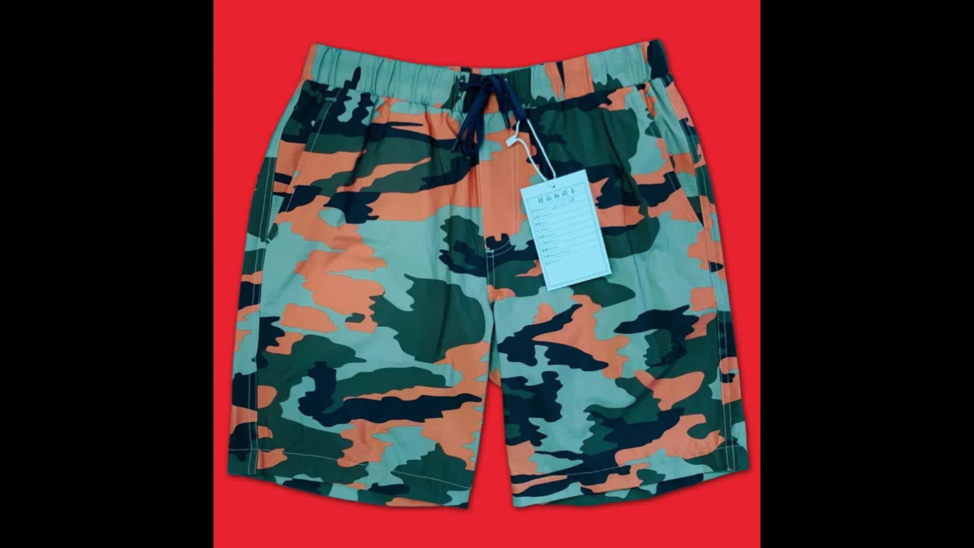 High Quality Polyester Customized OEM Men Swimming Shorts Quick Dry Beach Wear