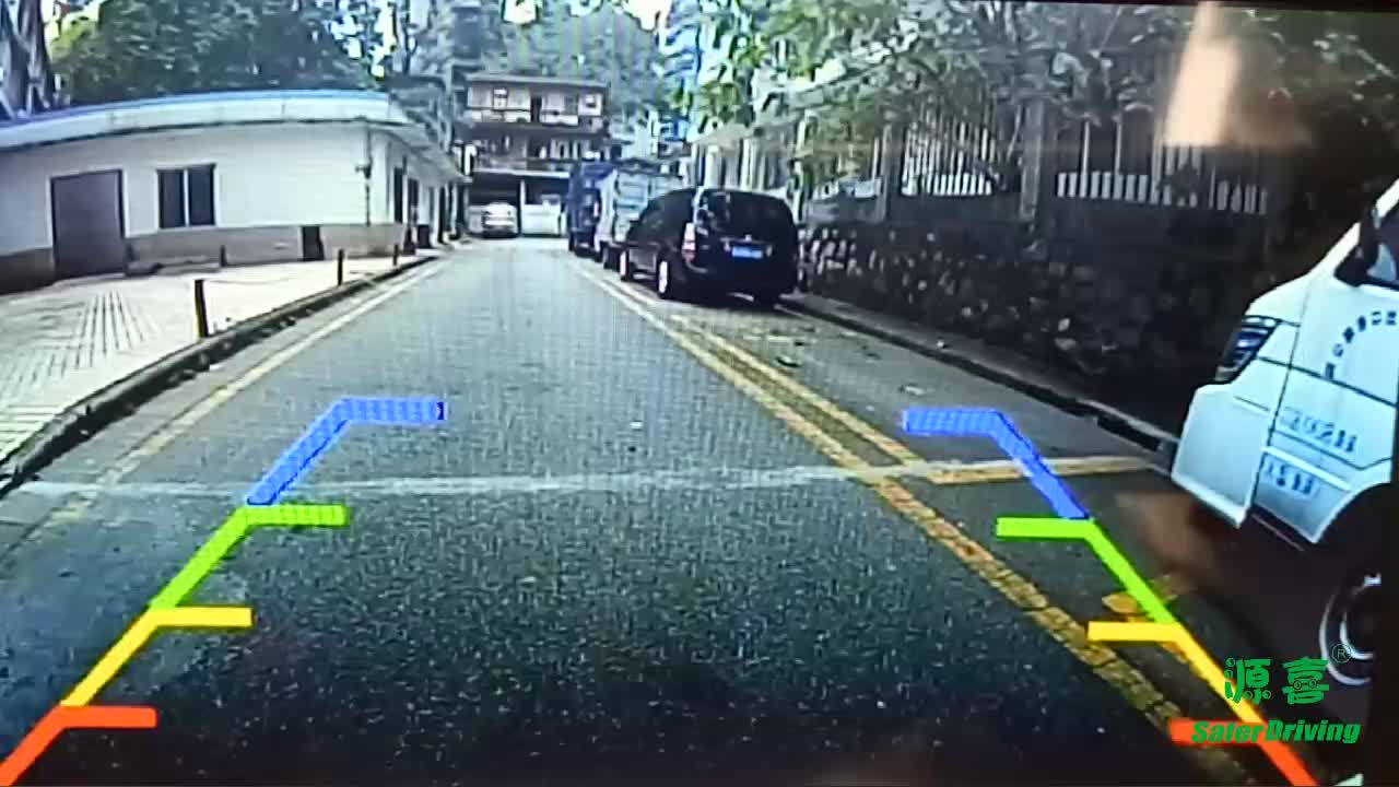 Saferdriving 4.3 inch Car visible mirror parking sensor with rear camera and 4pcs sensor parking sensor for prius