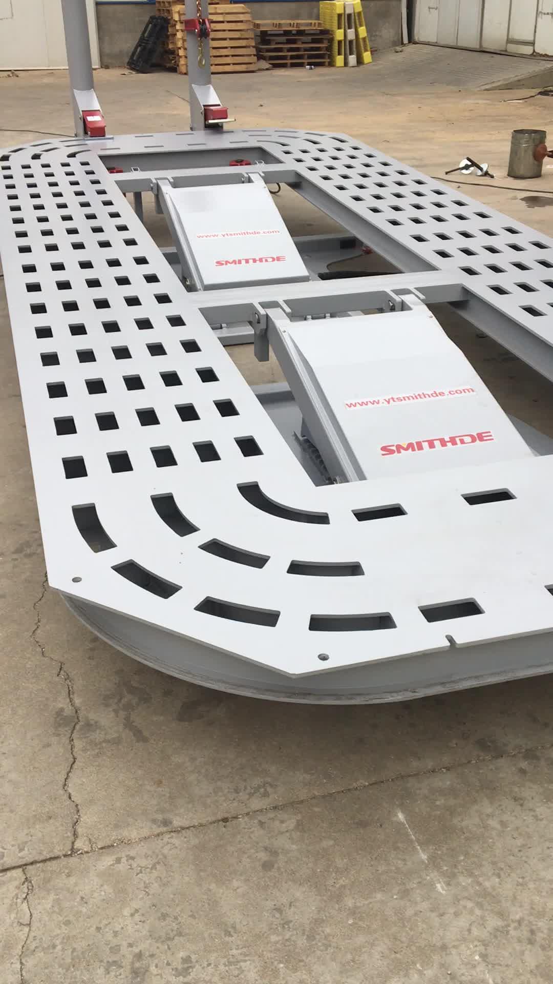 Profesyonel çarpışma araba tamir ekipmanları için asansör ve çekme ile kelepçeleri