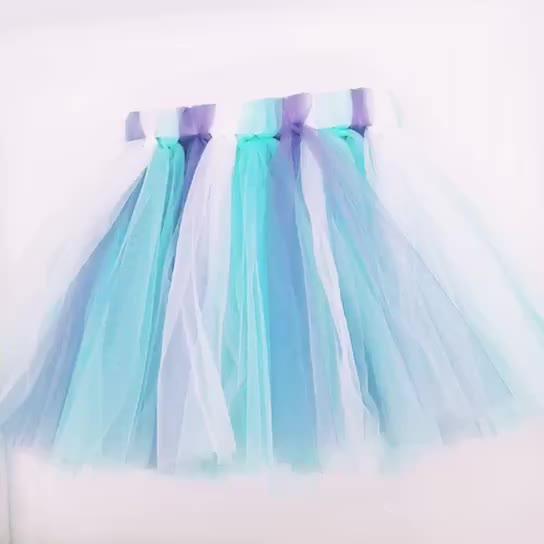 Оптовая продажа детская балетная юбка Детские Девочки Юбки Pettiskirt для детей, красочный фон с маленькие белые точки полиэстер платье-пачка