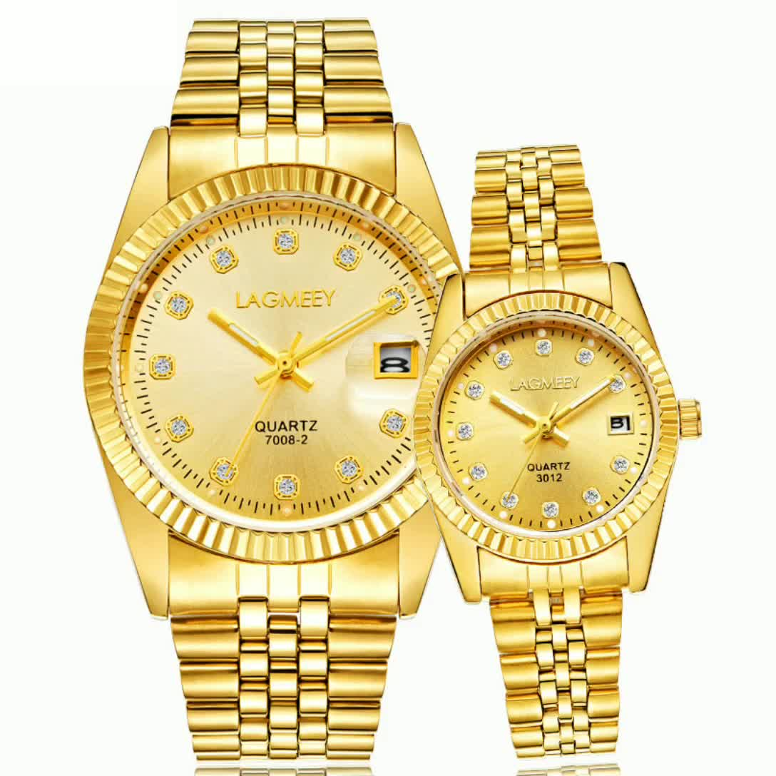 Tyrant gold couple watch ladies hot selling waterproof high-end gold watch fashion cross-border micro-business student watch men