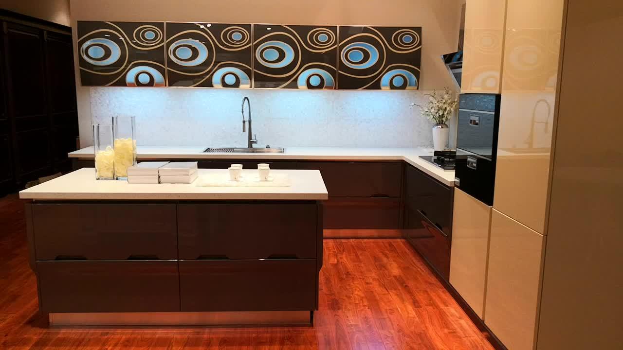 Xuất khẩu sang Úc nhà máy giá hiện đại modular nhà bếp thiết kế