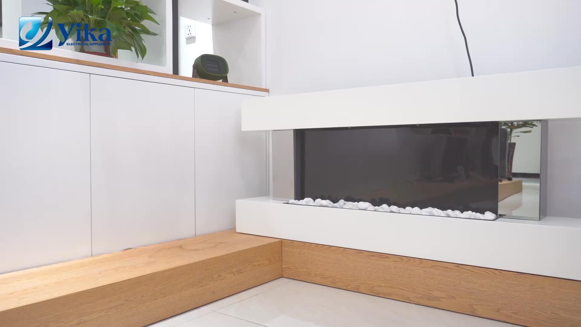 최고의 품질 장식 불꽃 전기 벽난로 히터 전기 벽난로를 탑재