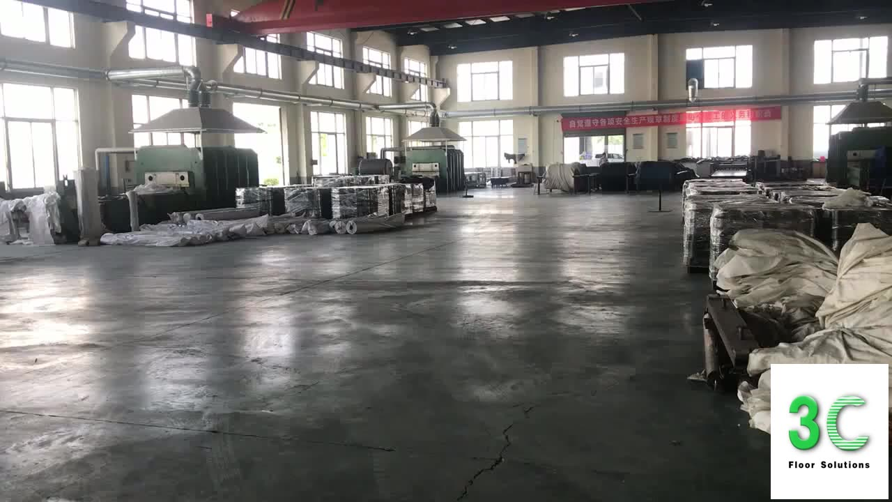 Non-slip PVC sheet Coin-grip Industrial plastic Garage flooring for wholesale