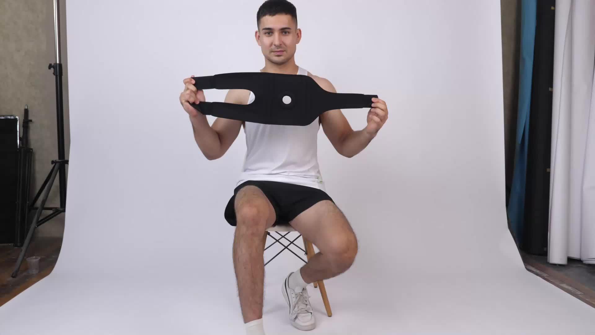 Apoio Do Joelho Neoprene ajustável Sports Knee Brace Para Mulheres Dos Homens