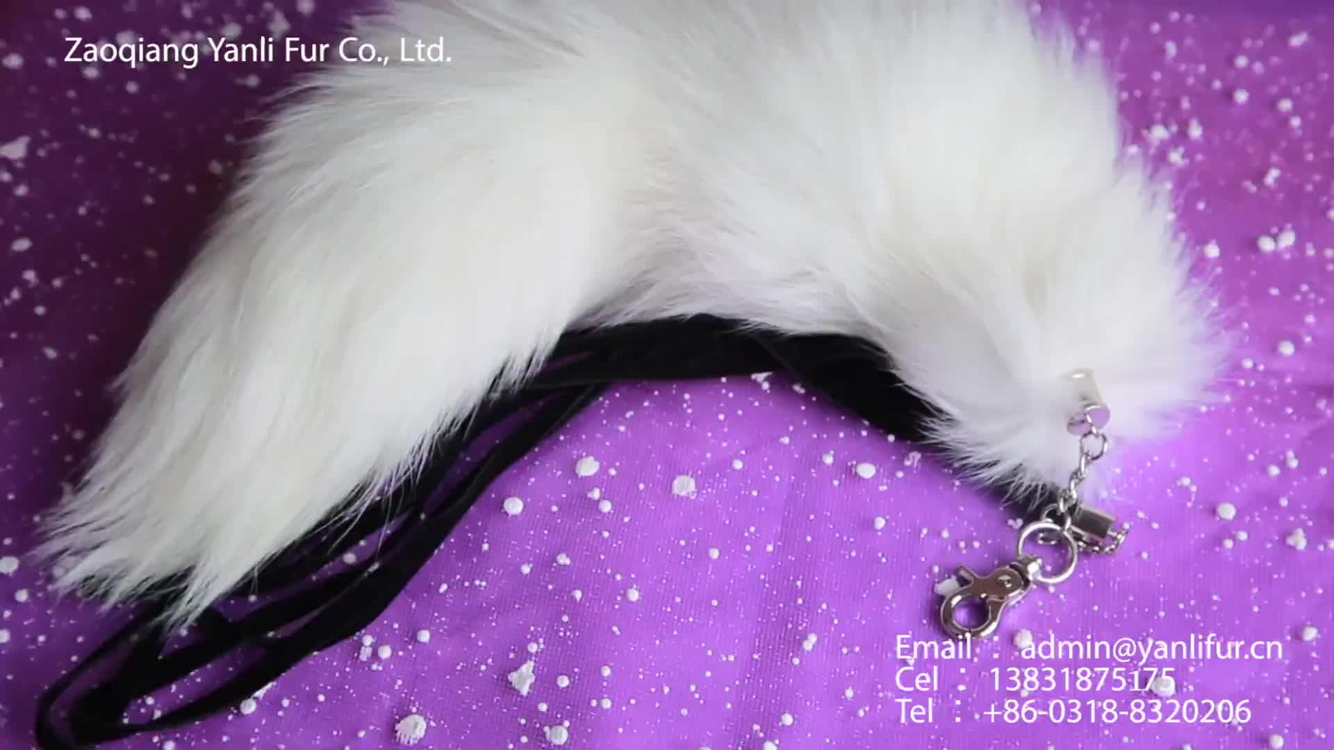 new bag accessories fox tails fur pendant