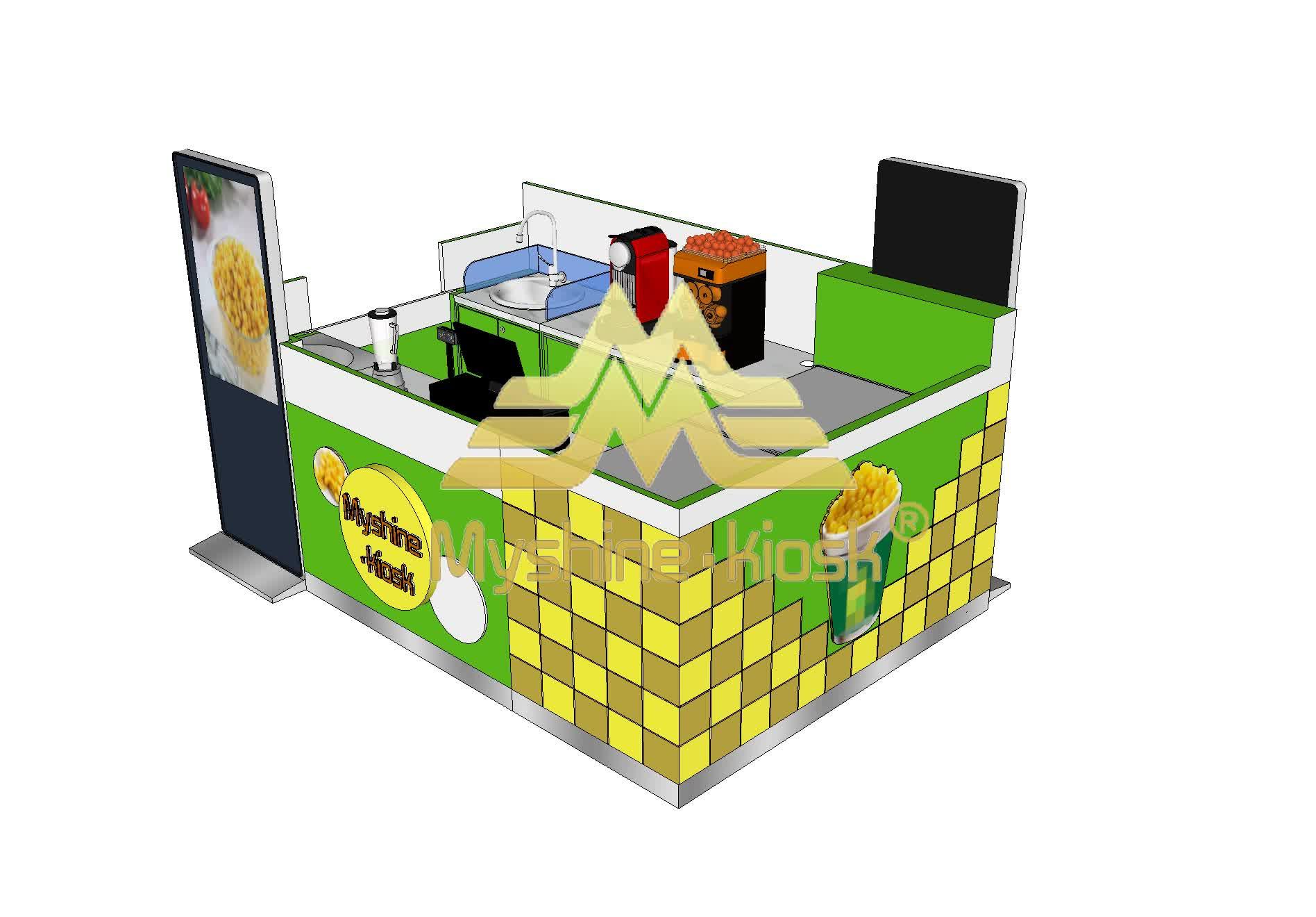Özelleştirilmiş Perakende TATLI MISIR Kiosk Sayaç Tasarımı Ile Mısır Durak Satılık
