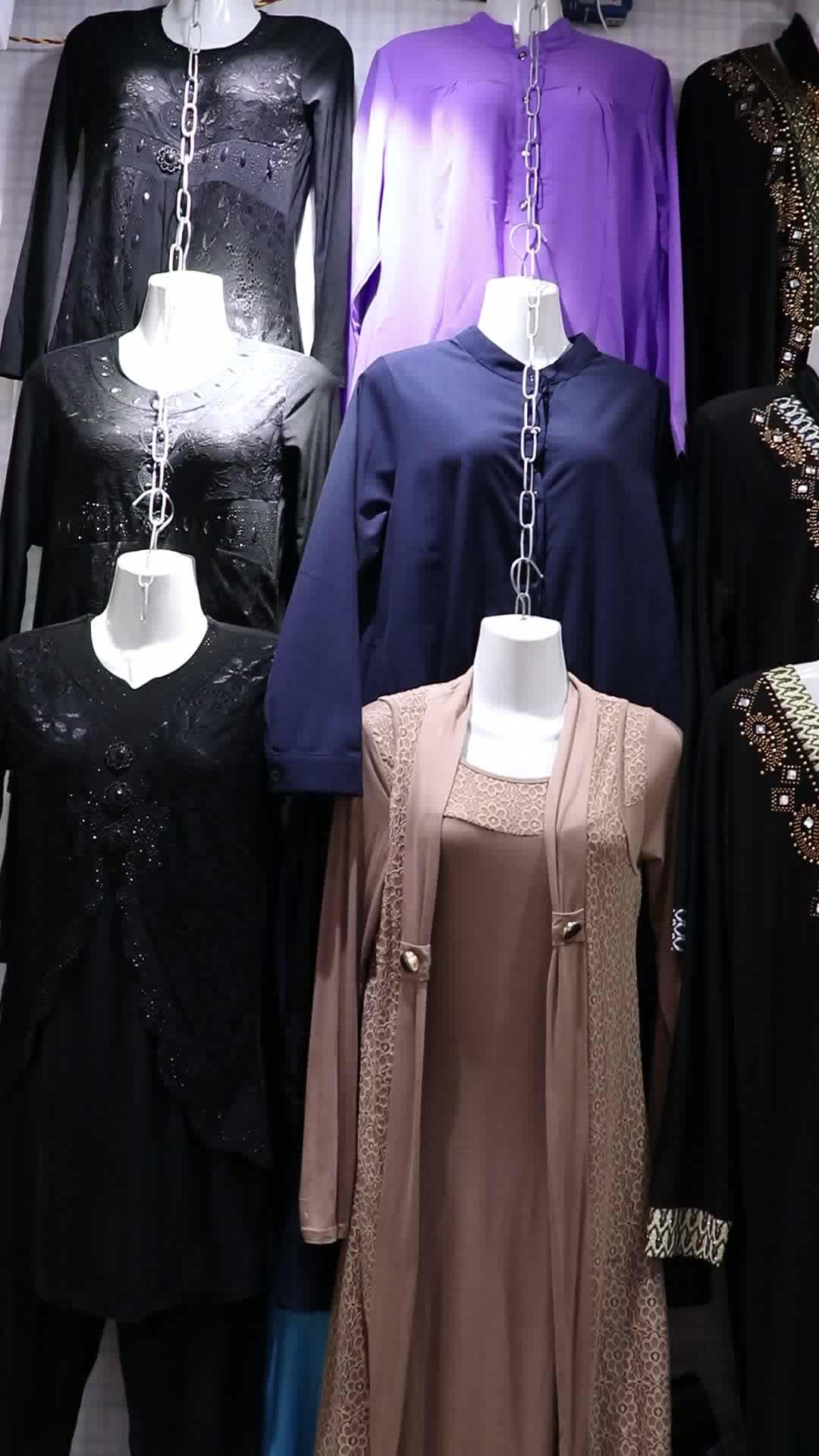2019 Vente chaude 3 pièces musulman fille robe avec veste et jupe longue pour 5 ans à 15 ans