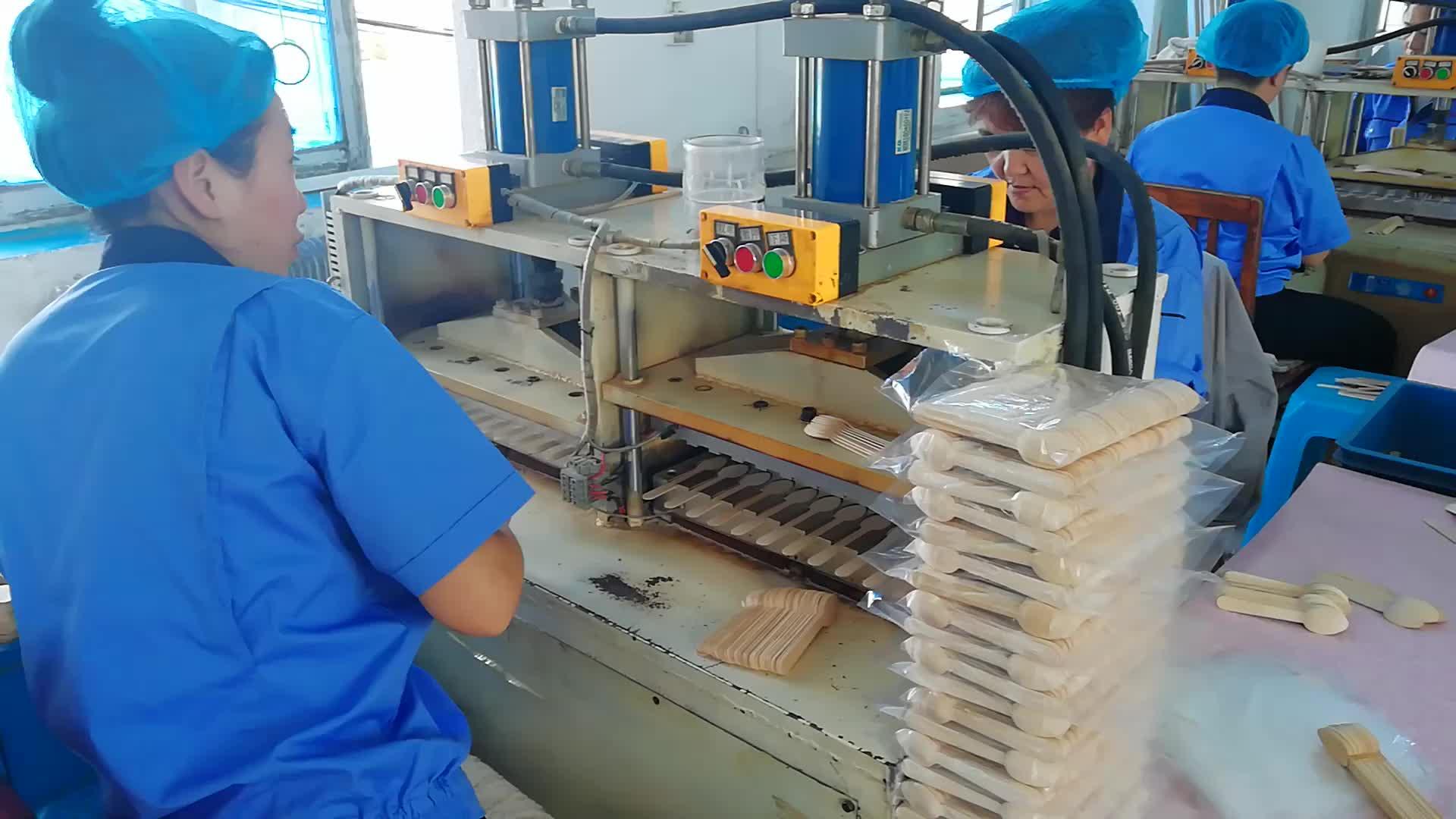 卸売使い捨て木製スプーンアイスクリームスプーンから中国