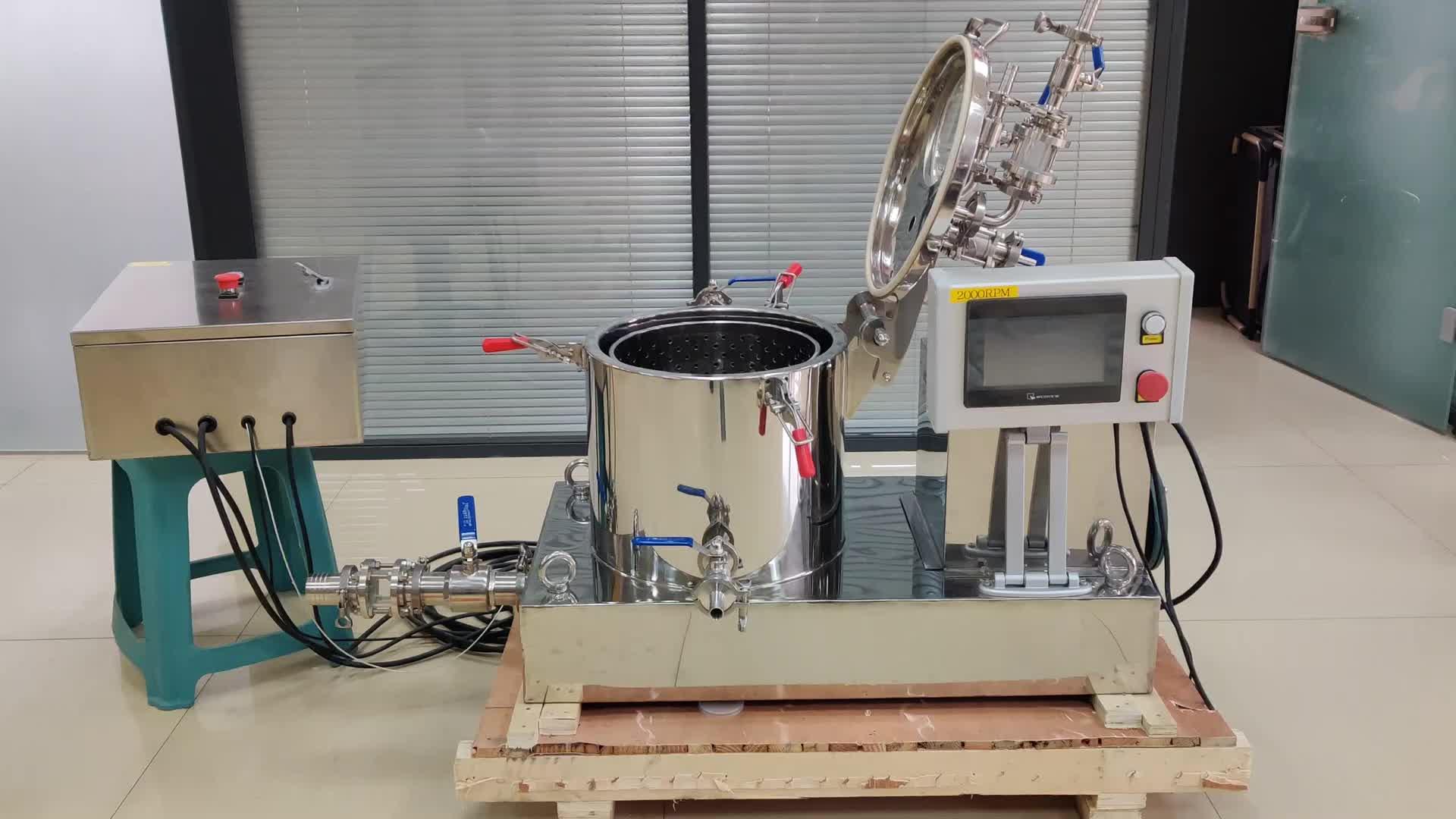Hennep Plant Apparatuur Cbd Olie Essentie Cannibis Ethanol Extractie Machine