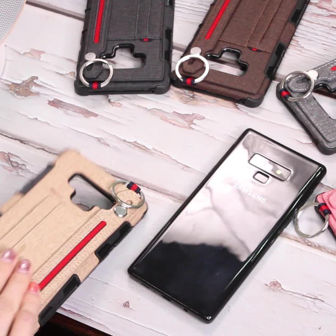 Fabrik Preis Luxus Handy Brieftasche Karte Tasche Fall Handy Ständer Handgelenk Handtasche Fällen Für Samsung Galaxy Note 8 9 s8